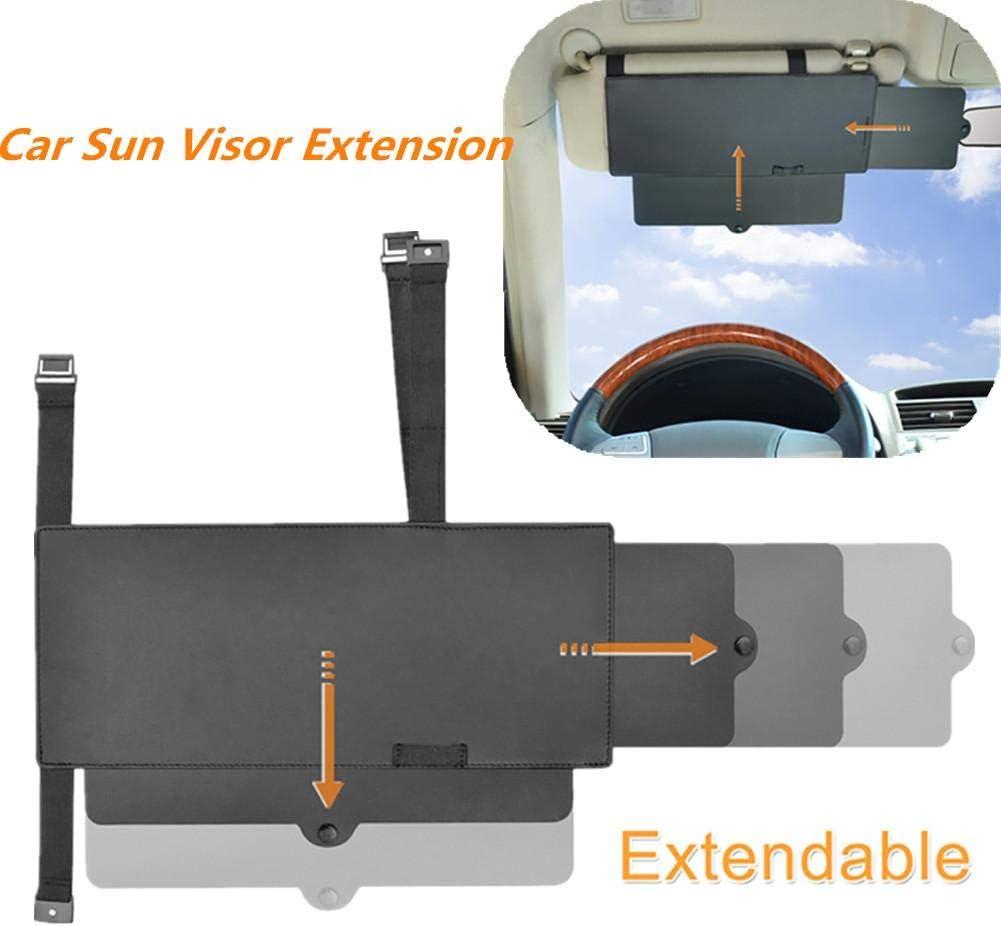 Auto Pare-Soleil Universel Anti-/éblouissement Protection UV pour conducteur et Passager du si/ège Avant Noir 1pc katiway Extension de Pare Soleil Voiture