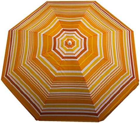 Astella 6 ft. Stripe Beach Umbrella Polyester with UV Coating