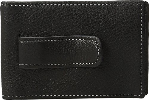 Johnston & Murphy Billfold - Johnston & Murphy Two-fold Money Clip (Black)