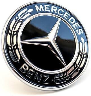 OEM 3 POINT REAR GLOSS BLACK STAR LOGO EMBLEM FOR MERCEDES BENZ C CLASS W204 AMG