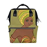 Backpack School Bag Africa Woman Art Canvas Travel Doctor Style Daypack