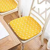 Peacewish Dining Chair Pads Seat Cushions for Kitchen Chairs (Yellow, Set of 4)