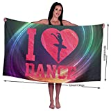 Zhangyi I Heart Dance Love Super Absorbent Beach, Bath, Pool, Spa Beach Towel 32x52 Inches for Kids & Adults