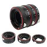 Extension Tube for Canon,PIXEL Plastic electronic AF Macro extension tube Auto Focus AF Macro lens Extension Tube Ring with Covers for Canon EF EF-S Lens DSLR Camera,as EOS 7D 10D 20D 30D,etc
