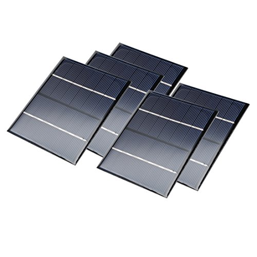uxcell 5Pcs 6V 200mA Poly Mini Solar Cell Panel Module DIY for Phone Light Toys Charger 110mm x 92mm