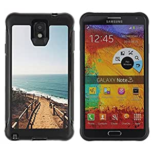Suave TPU GEL Carcasa Funda Silicona Blando Estuche Caso de protección (para) Samsung Note 3 / CECELL Phone case / / summer beach California sun ocean /