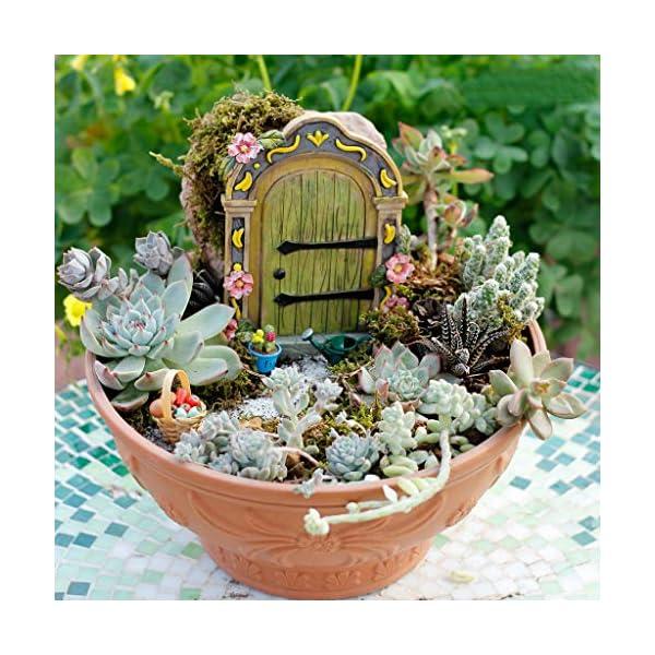 Muamax Fairy Garden Door Accessories Fairy Doors Wall Indooroutdoor Mystical Door For Tree Trunk Green