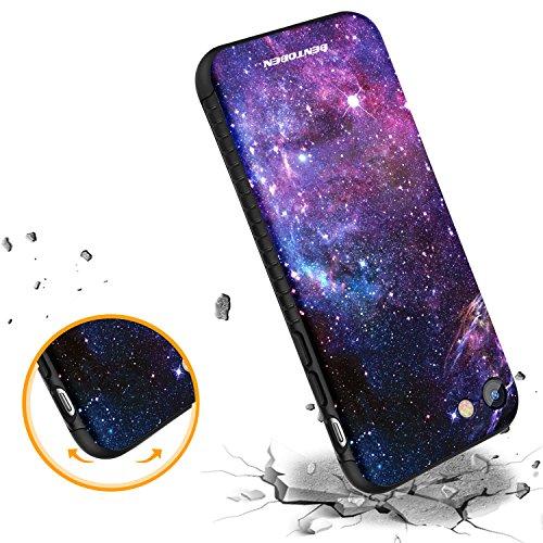 iPhone 8 Case, iPhone 7 Case, BENTOBEN Nebula Galaxy Ultra Slim Lightweight Hard Plastic Shell Soft TPU Hybrid Dual Layer Anti-Scratch Protective Cover Case for iPhone 8/ iPhone 7, Purple Nebula Photo #8