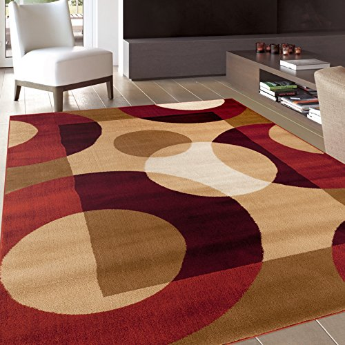 Rugshop Modern Circles Area Rug, 5' 3