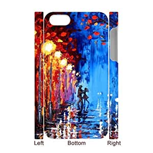 DIY 3D Case Cover for iPhone 4, iPhone 4s w/ Polka Rain image at Hmh-xase (style 2)