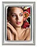.925 STERLING SILVER Picture Frame and Mirror. Mahogany Back (8'' x 10''). Made in ITALY