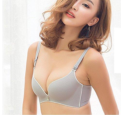 SDKIR-Las niñas sin marcado ningún anillo de acero bra kit de finas partículas grandes bustiers Sra. ajuste sujetador ropa interior de estilo: Amazon.es: ...