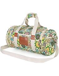 Malirona Gym Bag Canvas Gym Duffel Women Sports Duffels Bag with Shoes Compartment 17 Inch