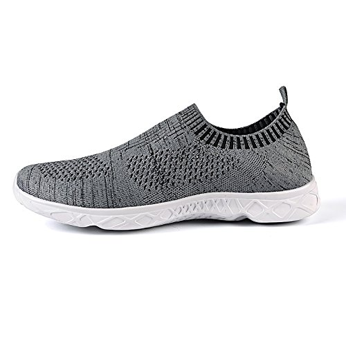 Feetmat Mens Slip auf Wasser Schuhe sportliche Wanderschuhe Grey1
