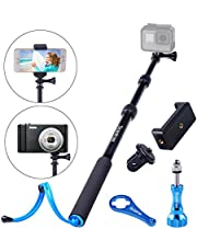 Smatree SmaPole S1 Extendable Selfie Stick/Monopod for GoPro Hero 5/4/3+/3/2/1/Session/for Compact Cameras