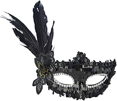 RYTEJFES Antifaz Carnaval Máscara Plumas Retro Máscara Casa De ...