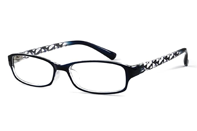 EyeBuyExpress Rectangle Black Reading Glasses Magnification Strength 0.75