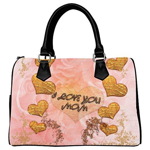 Jasonea Women Boston Handbag Top Handle Handbag Satchel Amazing Fractal Basad194407