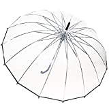 Kung Fu Smith Large Clear Umbrella Bulk Wholesale Pack Rain Transparent Plastic Umbrella with Black Handle for Weddings and Outdoor Events