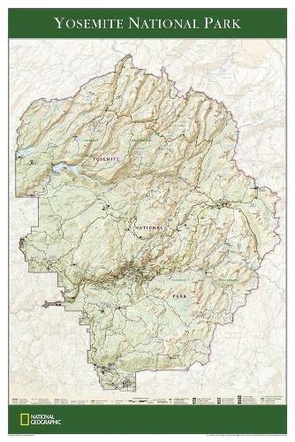 Yosemite Natl Park Map - Yosemite National Park Poster (tubed) (Reference - U.S.)