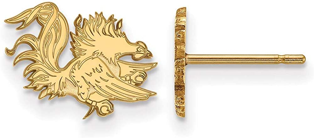 Lex /& Lu LogoArt 14k Yellow Gold University of South Carolina XS Post Earrings LAL137231