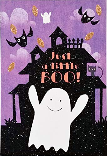 Just a little BOO! Because I'm Haunted by Happy Thoughts of YOU! Romantic Halloween Greeting Card (Husband Wife Boyfriend Girlfriend)]()
