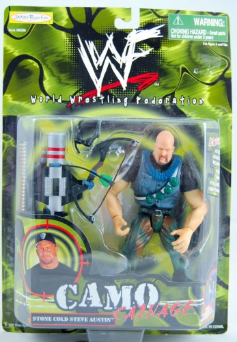 (WWF - Stone Cold Steve Austin - Camo Carnage - With Accessories - Jakks)