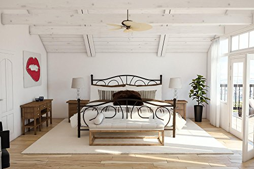 (DHP Victoria Metal Bed Frame, Adjustable Height for Underbed (6.5