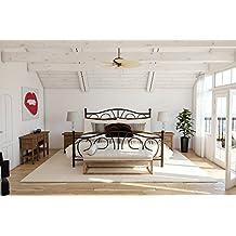 DHP Victoria Metal Bed Frame, Queen Size - Bronze