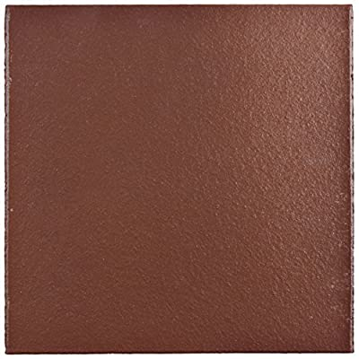 """SomerTile FGA6KFR Carriere Quarry Floor & Wall Tile, 5.875"""" x 5.875"""", Flame Red"""