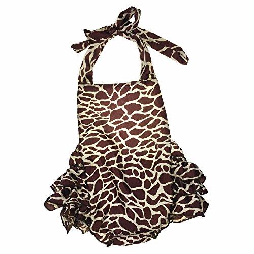 Lisianthus Baby Girls' Ruffles Romper Dress Summer Clothing Giraffe Size 12M -
