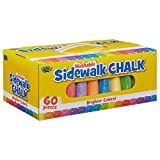 POOF Sidewalk Drawing Chalk Pack with Portable Storage Case and Handle, 60-Piece Set