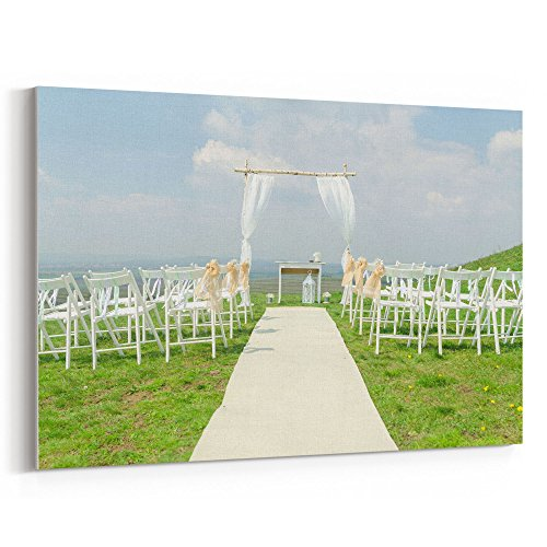 Jewish Wedding Canopy - Westlake Art Canvas Print Wall Art - Wedding Aisle on Canvas Stretched Gallery Wrap - Modern Picture Photography Artwork - Ready to Hang - 16x24in
