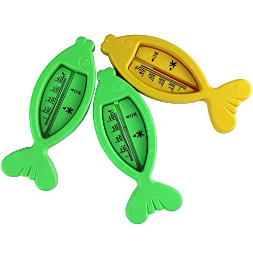 1 Pcs Plastic Fish Float Floating Toy Baby Bath Tub Water Sensor Thermometer