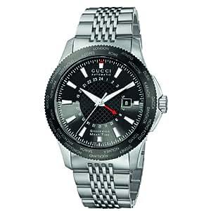 Gucci G-Timeless GMT Stainless Steel Bracelet Men's Watch(Model:YA126211)