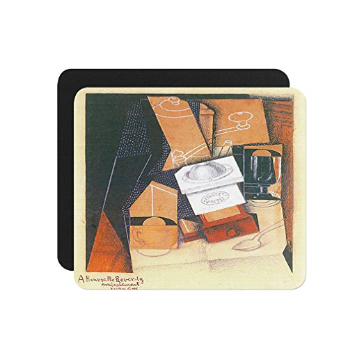 Coffee Grinder Cup Glass (Juan Gris) Computer Laptop Mouse Pad