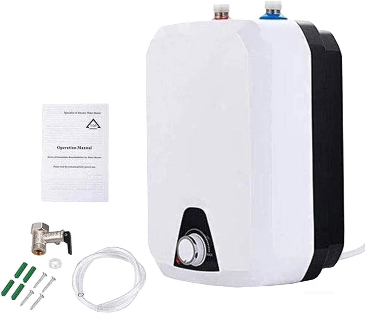 SUDEG Electric Hot Water Heater,1500W Electric 8L Tank Household Environmental IPX4 Water-Proof Level 110V 60HZ 9.4 x14.6×8.6
