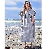 Surf Poncho - Adult Hooded Towel | Grey Black