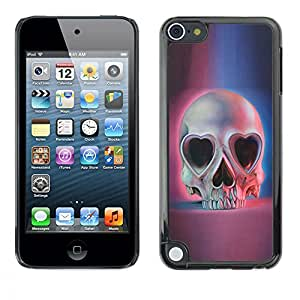 Planetar® ( Love Skull Hearts Eyes Blue Pink Death ) Apple iPod Touch 5 Fundas Cover Cubre Hard Case Cover