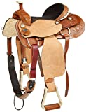 "Tahoe Dakota Western Roping Saddle, 15.5"", Light B..."