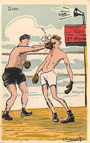 Gong, Boxe Old Vintage Boxing Postcard Post Card