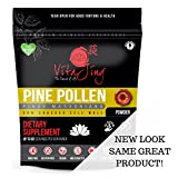 Organic Pine Pollen Powder Extract (8oz / 227gm) Raw Form, Pure Wild Harvested, 99 Percent Broken Cell Wall for Optimal Absorption and Potency (Up to 184 Servings)