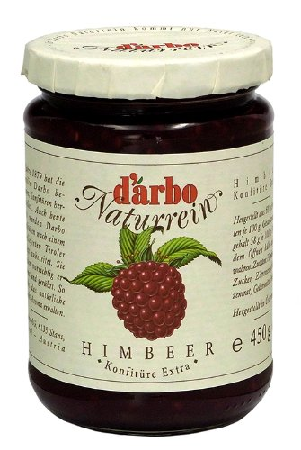 Darbo All Natural Raspberry Extra Jam 450g