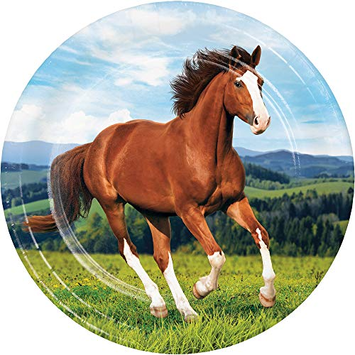 - Kentucky Derby Party Supplies Preakness Stakes Belmont Horse Racing Farmhouse Barn Paper Plates Dinner Plates 9 Inch Pk 32