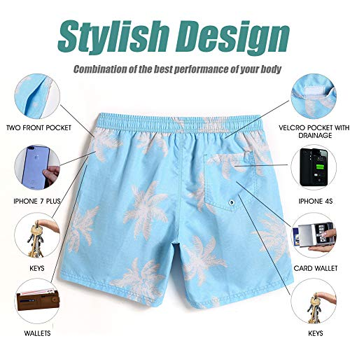 8518a5397c3af ... MaaMgic Mens Palm Tree Swim Trunks Bathing Suits Board Shorts Swimming  Shorts ...