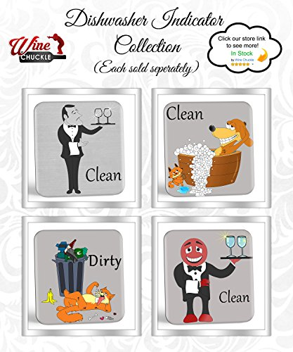 Dish Doggy Clean Dirty Dishwasher Magnet Sign - A Fun & Stylish Clean Dirty Dishwasher Sign Gift with 2 Different Fun Sides for Dog Lovers to Stop Dish Mix-ups Forever by Wine Chuckle (Image #5)