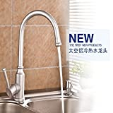 Furesnts Modern home kitchen and Bathroom Sink Taps Kitchen Taps space aluminum hot and cold shower water sink to rotate the Mixer Bathroom Sink Taps,(Standard G 1/2 universal hose ports)