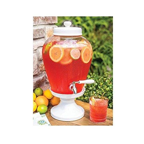 Ceramic Pedestal Beverage Dispenser (2.5 gal.)