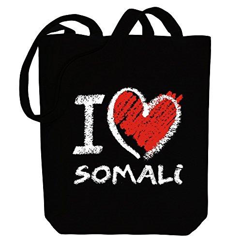 chalk Tote Bag Canvas style Idakoos Somali Languages love I wxwTqa