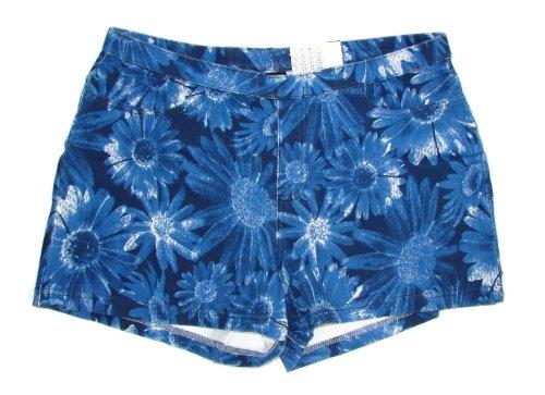 UPC 008672412282, HUE The Original Jeans Shorts Stretch Floral Navy (Large (12/14))